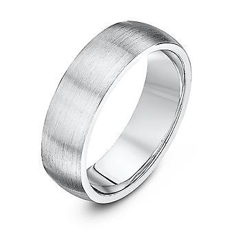 Bague de mariage Star anneaux de mariage Palladium 950 Cour lourd Matt finition 6mm