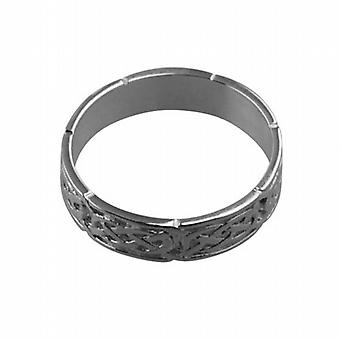 Silver 6mm Celtic Wedding Ring Size Z
