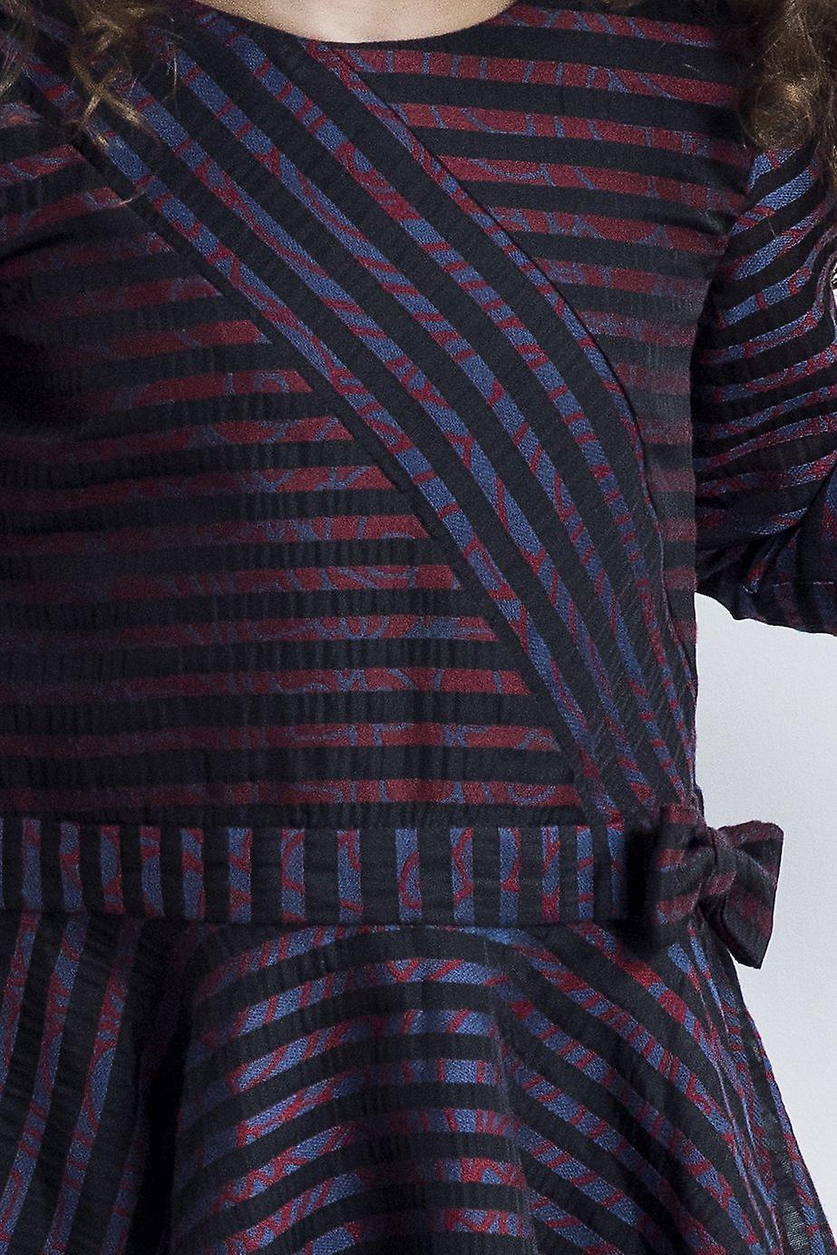 Striped patchwork girl dress