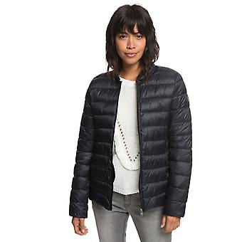 Roxy Young Womens Endless Dreaming Packable Lightweight Puffer Jacket - Black