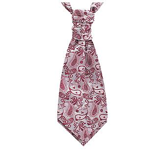 Dobell Boys Rosa Seide Krawatte Paisley Pre gebunden
