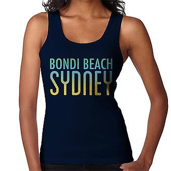 Bondi Beach Sunny Sky Text Women's Vest