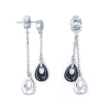 Ah! Jewellery Ceramic Dangle Crystals from Swarovski Earrings