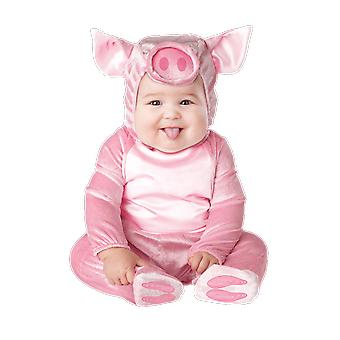 Baby Age 6 - 24 Months Pink Piglet Costume Animal Farm Fancy Dress
