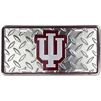 "Indiana Hoosiers NCAA ""Diamond"" License Plate"