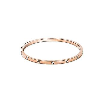 Fancy Hoop Ballerina Bangles Bracelet, Set of 2, Stainless Steel