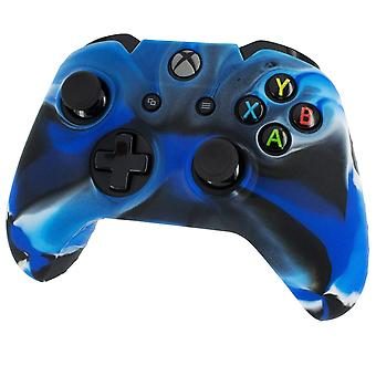 Pro Soft Silikon Protective Cover mit Ribbed Handle Grip Camo Blue-Xbox One