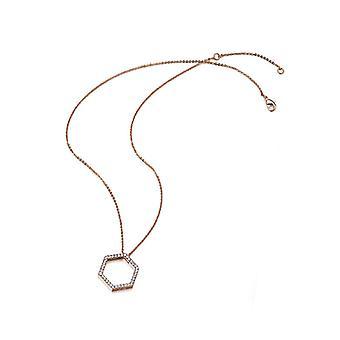 Gdngd Wu Rose goud vergulde zeshoek ketting met Swarovski kristallen 28035