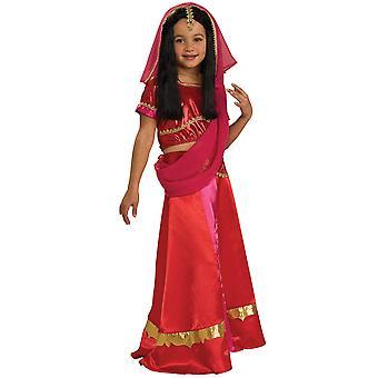 Traje de las chicas de la semana libro pequeña princesa India India Sari hindú Bollywood