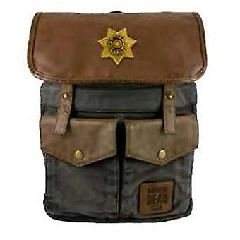 Backpack - The Walking Dead - Rick's Sheriff Black New Toys Licensed TWD-L123