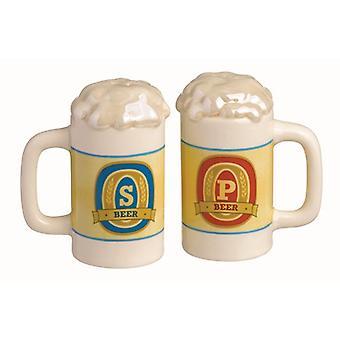 Beer Stein Salt and Pepper Shaker Set Grasslands Road