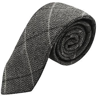 Luksusowy grafit szary jodełkę wyboru Tweed krawat
