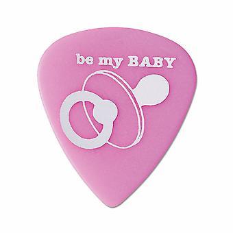 6 Pickboy Angel Rocks - Guitar Picks/Plectrums - Be My Baby - Pink 1.00mm