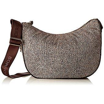 Borbonese Moon Brown Woman shoulder bag (Classic Op/Brown) 28x24x11 cm (W x H x L)