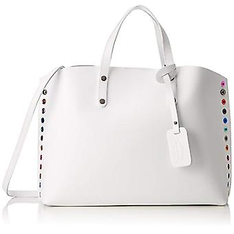 Chicca Bags 8678 White women's shoulder bag 46x30x13 cm (W x H x L)