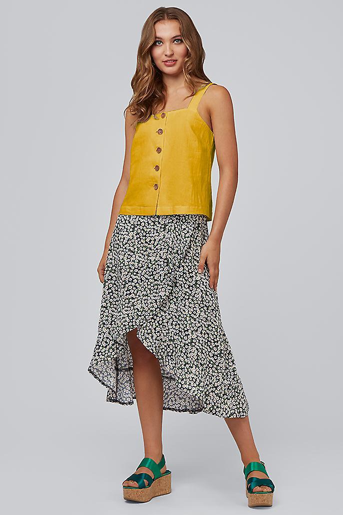 Louche Othilie Button Through Cami Yellow