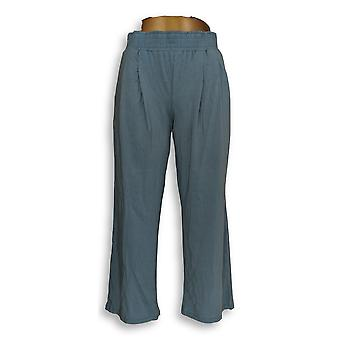 Nogen kvinder ' s Petite bukser XSP hyggelig Strik støvet blå A347173