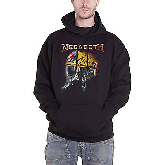 Megadeth Hoodie Full Metal Vic Band Logo new Official Mens Black Pullover