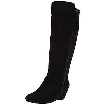 Anne Klein Womens Alanna Stoff Mandel Toe Mid-Calf Fashion Stiefel