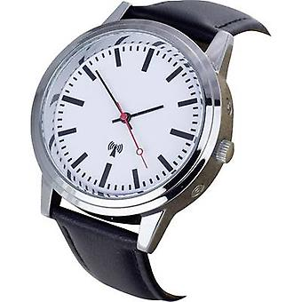 Radio Wristwatch 62528 (Ø x H) 40 mm x 11 mm Stainless steel Enclosure material=Metal Material (watch strap)=Leather EUROTIME