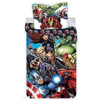 Marvel Avengers Single Katoendeksdot Cover en kussensloop Set -