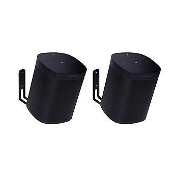 Vebos wall mount Sonos One SL black 20 degrees set