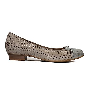 Ara Baribow 33760-99 Taupe Suede Leather Womens Slip On Shoes