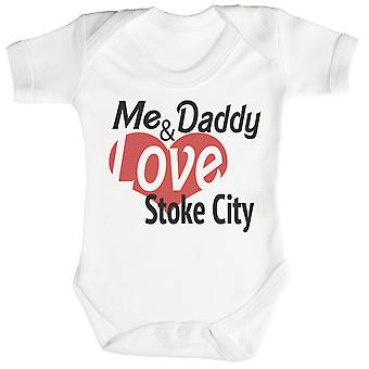 Me & Daddy Love Stoke City Baby Bodysuit / Babygrow