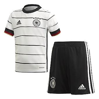 adidas Germany 2020/21 Junior Kids Football Home Mini Kit White/Black