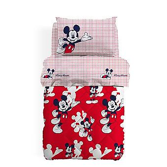 Square quilt and half Microfibre Mickey Disney Caleffi