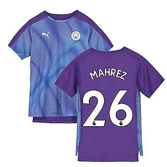 2019-2020 Manchester City Puma Stadium Jersey (Purple) - Kids (Mahrez 26)