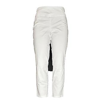 Frauen mit Control Petite Leggings M Slim Leg Ankle Pants White A239672