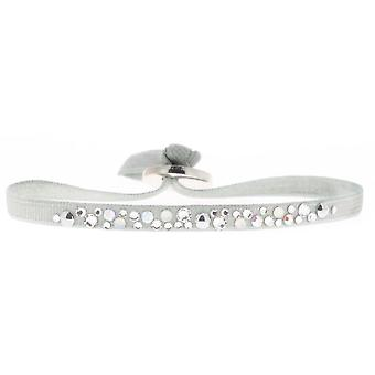 Bracelet Les Interchangeables A38303 - Bracelet Tissu Acier Gris Femme