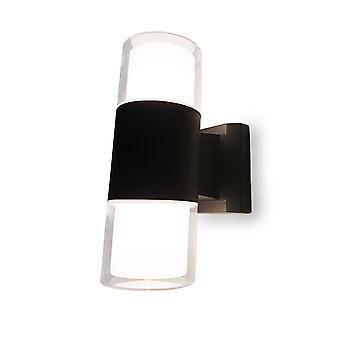 Outdoor wall lamp Wall lamp Odin dark grey Cob Led 2x6W 3000K IP 44 10792