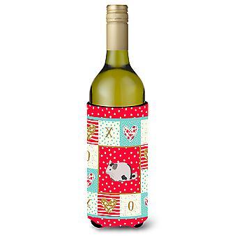 Carolines Treasures  CK5423LITERK Mosaic Chinchilla Love Wine Bottle Hugger