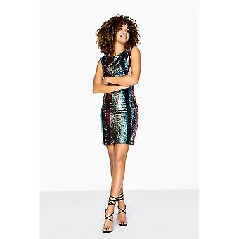 Girls On Film Womens/Ladies Aion Low Back Sequin Dress