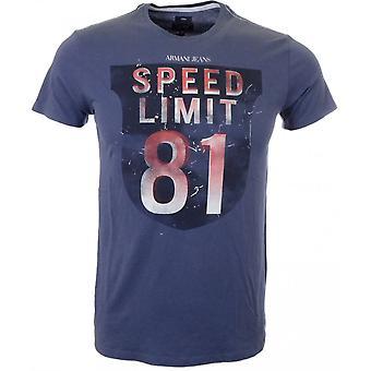 A6h13 جينز أرماني ضئيلة تناسب القميص الأزرق