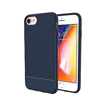 For iPhone 8,7,6 og 6S tilfelle, blå snap rustning støtsikker lys slank telefondeksel