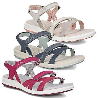 Sandálias de couro leve ecco womens cruise II ajustáveis