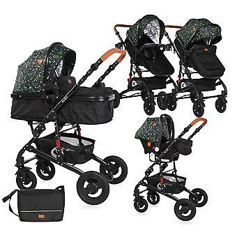 Lorelli Combi stroller Alba 3 in 1 rubber wheels Car seat baby bath sports seat