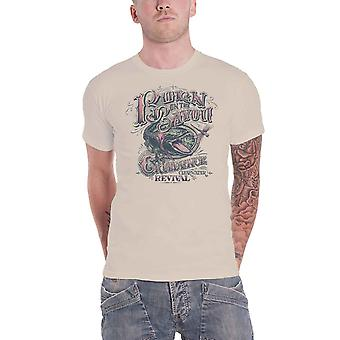 Creedence Clearwater Revival T Shirt Born On The Bayou Official Mens Sand