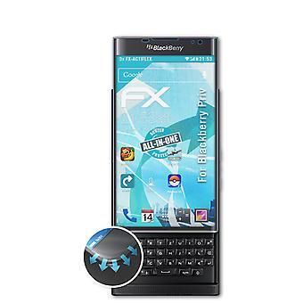 atFoliX 3x Écran protecteur compatible avec Blackberry Priv Protecteur d'écran clair&flexible