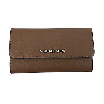 Michael kors jet set travel large trifold wallet luggage