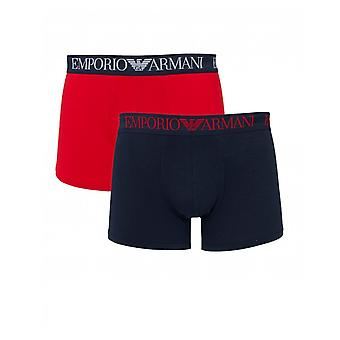 Emporio Armani 2 Pack Script Tailleband Long Trunks