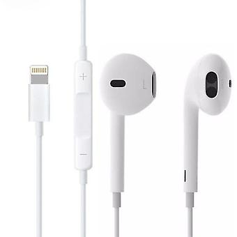 Stuff Certified® Lightning iPhone Wired Earphones with Microphone Pods Ears écouteur White