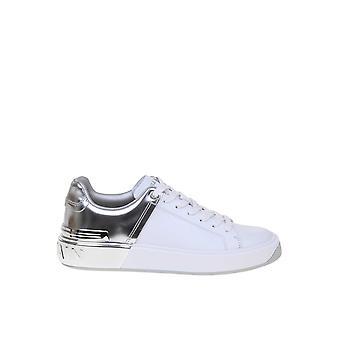 Balmain Tn1c328lsbmgac Women's Silver/white Leather Sneakers