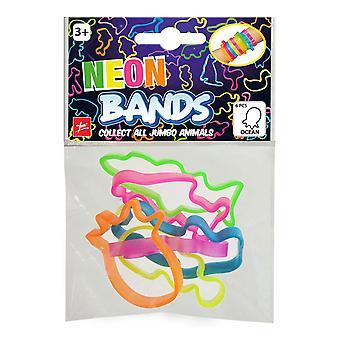 Neon Bands Bracelet Ocean 6 pieces