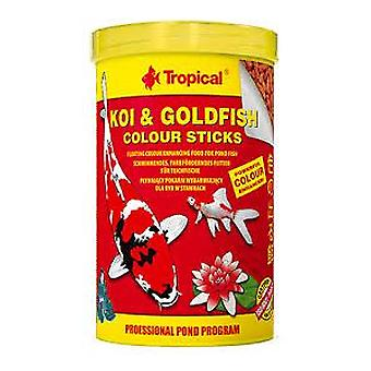 Tropical Koi &Amp  Goldfish Color Stick Bag 5L / 400 G (Fish , Food , Cold Water)