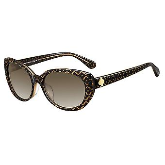 Kate Spade Everett/F/S 4Q8/HA Pattern Brown-Gold/Brown Gradient Sunglasses