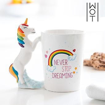 Unicorn Cup Never Stop Dreaming Wagon Trend